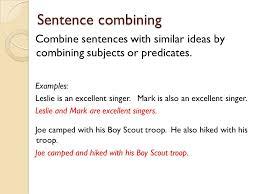 Sentence Combining Worksheets - Checks Worksheet