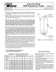 Cbx Expansion Tanks Instruction Sheet Taco Hvac