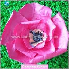Rose Paper Flower Making Giant Paper Flowers Wholesale Crumpled Poppy Large Rose