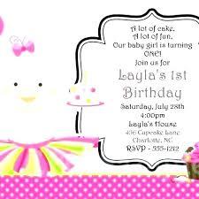 Girl Birthday Invitation Template Cupcake Invitation Template Birthday Invitations And Party