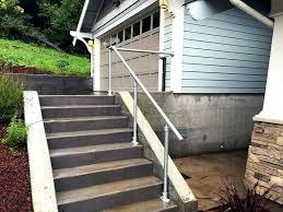 outdoor metal stair railing ideas railings installation
