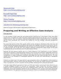 Case study examples in business   Affordable Price