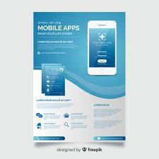 Make Flyer App Mobile App Flyer Template Vector Free Download