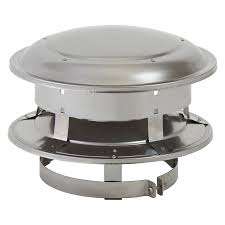 supervent 6 in w x 5 in l stainless steel round chimney cap