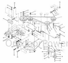 installation repair and replacement of v belts on cub cadet v belts on cub cadet tractor 1015 1225 and 1315 diagram of drive