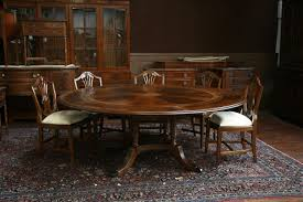 round extendable dining table and chairs