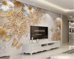 Beibehang Foto Muurschildering Wallpaper 3d Luxe Gouden Sieraden