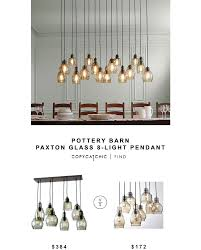 pottery barn paxton glass 8 light pendant