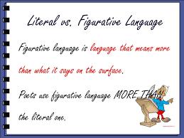 literal language figurative language verses literal language college paper