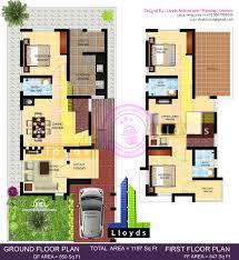 1197 sq ft 3 bedroom villa in 3 cents plot house design plans