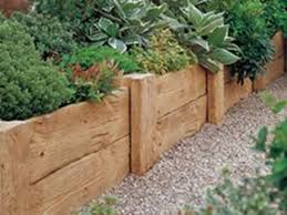 wooden garden bed edging creative ideas how to install timber wood