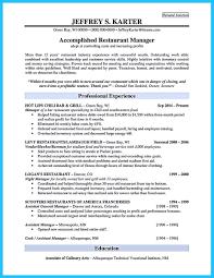 Bar Manager Sample Resume Resume For Study