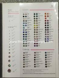 Rhinestone Color Chart For Preciosa Rhinestones