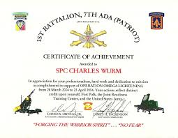 Military Certificate Templates Military Award Certificate Template Image collections Templates 27