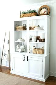 cool dining room hutch and buffet white w wood top kitchen storage cabinet microwave