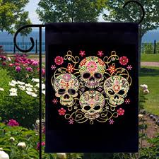 Small Picture Gothic Sugar Skulls New Small Garden Flag Events Gifts Day of