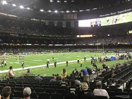 New Orleans Saints Superdome Seating Chart Superdome Section 124 New Orleans Saints Rateyourseats Com