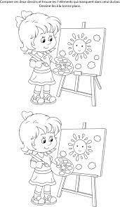 Le canoé these pictures of this page are about:jeu des 7 erreurs. Jeu Des 7 Erreurs A Imprimer Une Fille Qui Peint Turbulus Jeux Pour Enfants