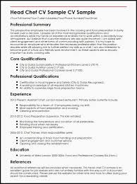 Resume For Chef Sample Resume For A Chef Example Free Resume 0d Line