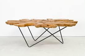 zenporium teak root cross section coffee table large 1