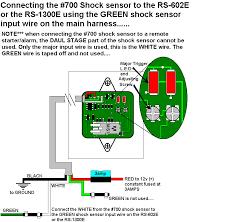 installation diagrams Car Alarm Installation Wiring Diagrams connecting shock sensor to single stage alarm 700