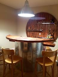 home bar from wooden electical spool