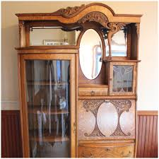 bookcases oak secretary desk carved leaded glass mirrors beveled antique seattle best vancouver pasadena