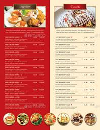 Restarunt Brochure Magnificent Trifold Restaurant Brochure And Menu By Monggokerso GraphicRiver