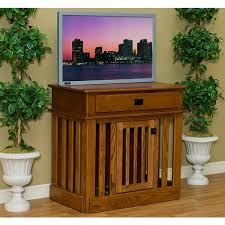 furniture style dog crate. Pinnacle Woodcraft Wood Dog Crate Entertainment Center Furniture Style