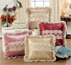 Small Picture European Luxurious Velour Home Decor Cushion Decoration Lace
