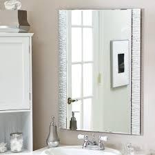 Bathroom Modern Bathroom Mirrors Frightening Design