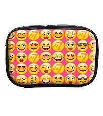 w7 emoji makeup bag pvc