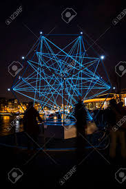Friendship Amsterdam Light Festival Amsterdam The Netherlands December 20 2015 Artwork Called