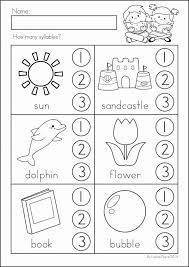 Kindergarten Syllable Worksheets Worksheets for all | Download and ...