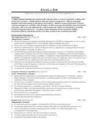 Senior Executive Assistant Resume Examples Executive Assistant Resume Samples EssayscopeCom 5