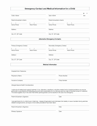 Printable Medical Release Form For Children Magnificent 44 Child Medical Consent Form Template Easy Writing