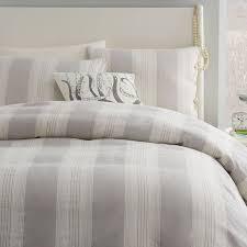amazing beckett belgian flax linen stripe duvet cover sham pottery barn for grey striped duvet cover