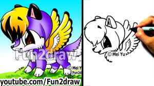 Small Picture Drawing Tutorials How to Draw a Wolf with WINGS Cute Drawings
