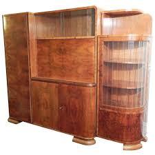 art moderne furniture. art decomoderne figured walnut cabinet w desk czech moderne furniture