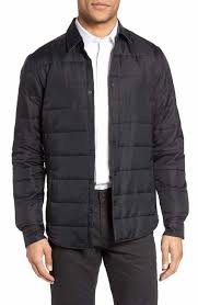 Men's Quilted, Puffer & Down Jackets | Nordstrom & BOSS Landolfo Quilted Shirt Jacket Adamdwight.com