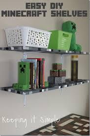 Minecraft Bedroom Idea Easy DIY Minecraft Shelves Keeping it