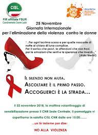 Le iniziative della Cisl in occasione della Giornata internazionale contro  la violenza sulle donne 2018 - Cisl.it
