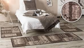 Bettvorleger Bettumrandung Vintageteppich Schlafzimmer Läufer Brücke