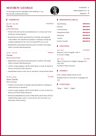 Free Resume Templates 2015 Teacher Resume Format And Resume Example For School Teachers