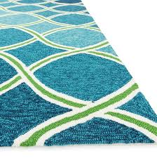 blue and green area rugs amazing beachcrest home kailani contemporary indoor outdoor with 14