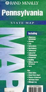 Rand Mcnally Pennsylvania State Map State Maps Usa Rand