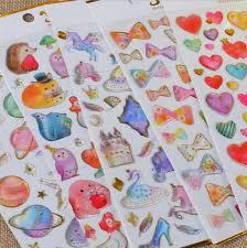 Sticker Design For Scrapbook Dazzling 3d Gemstone Waterdrop Various Designs Decorative Stickers Diary Sticker Scrapbook Decoration Pvc Stationery Stickers
