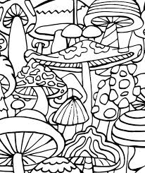 Small Picture Adult Coloring Page Mushrooms Printable coloring by CandyHippie