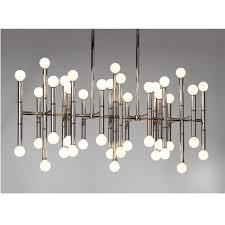 meurice rectangle nickel chandelier  modern chandeliers