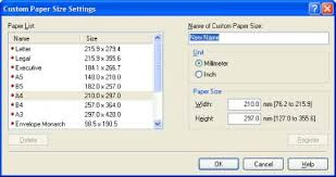 executive paper size how to specify the paper size and page setup